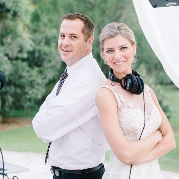 dj jon feist and bride
